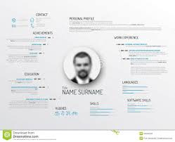 Resume Templates Minimalist by Original Cv Resume Template Stock Vector Image 51758278