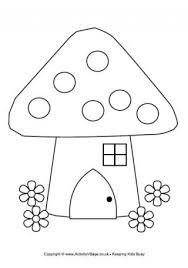 printable fairy house coloring pages printable images free