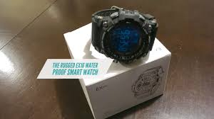 rugged military style ex1 waterproof smart watch with a 12 month