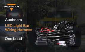 amazon com auxbeam wiring harness kit for led light bar with fuse