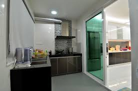 Sliding Door Kitchen Cabinets by Wet Kitchen With Concrete Top Glass Kitchen With Concrete Top