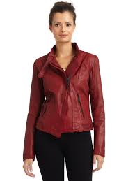 red leather motorcycle jacket andrew marc wynter asymmetrical zip leather motorcycle jacket in