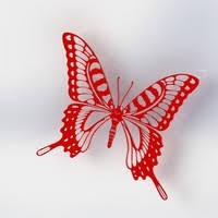 3d printed butterfly v1 by khantiger100 pinshape