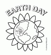 plant earth coloring kids pages printables picture