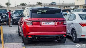red range rover land rover range rover sport svr 15 january 2017 autogespot