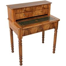 Wooden Secretary Desk by Louis Philippe Period Bonheur Du Jour Secretary Desk Of Burled