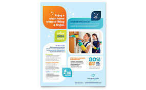 fliers templates cleaning services flyer template design