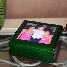 personalized photo jewelry box emerald green personalized jewelry box dania fl casco