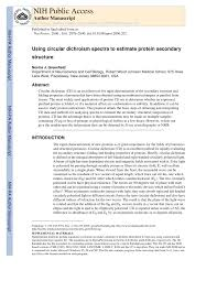 greenfield n j using circular dichroism spectra to estimate