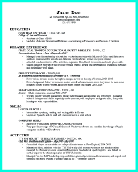 International Relations Resume Sample by The Perfect College Resume Template To Get A Job