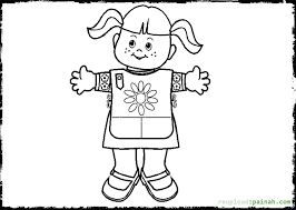 scout daisy coloring pages