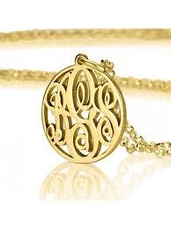 Gold Plated Monogram Necklace Choose Best Monogrammed Necklace From Our Latest Collection