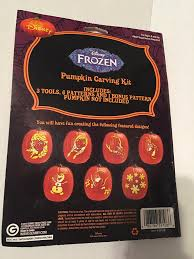 halloween pumpkin carving tools amazon com disney frozen halloween pumpkin carving kit kitchen