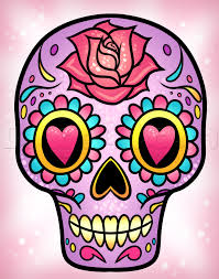 how to draw a sugar skull easy step by step skulls pop culture