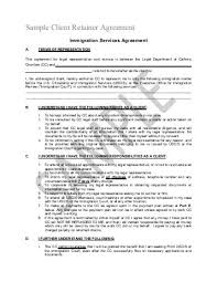 retainership agreement u2013 legal documents