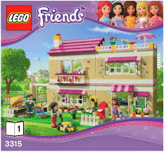 lego olivia u0027s house instructions 3315 friends