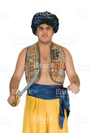 Belly Dance Halloween Costume Tennage Boy Wearing Arabian Sultan Belly Dancer Halloween