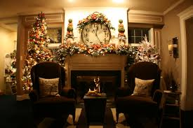 Christmas Decor For Home Interior Living Room With Electric Fireplace Decorating Ideas