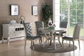 Silver Dining Room Set by F2150 Dining Set 5pc In Silver Tone By Boss W Options