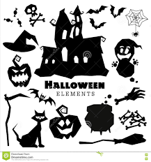 happy ghost clipart happy halloween scary black silhouettes collection stock vector