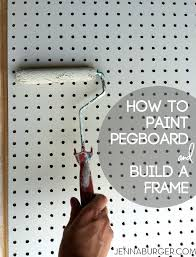 build a frame house diy how to paint pegboard build and install a frame surround