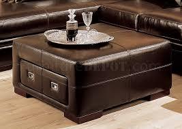 40 X 40 Storage Ottoman Fancy 40 X 40 Storage Ottoman With Brown Cast Leather Sectional