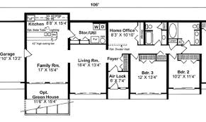berm house floor plans earth sheltered home plans berm house hill house plans 47180