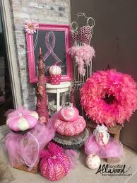 pink pumpkin fall decor for breast cancer awareness month breast