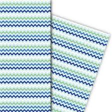 Muster Blau Grün Fr禧hliches Geschenkpapier Mit Zickzack Muster Blau Gr禺n 4