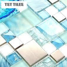 glass kitchen tiles for backsplash ikea wavy mirror tiles wavy mirror tiles lot blue sea glass