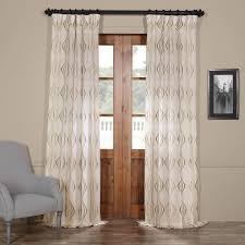 get suez bronze embroidered faux linen sheer curtains