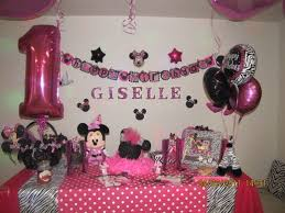 Pink And Black Minnie Mouse Decorations 79 Best 1 Year Old Minnie Mouse Birthday Party Images On Pinterest