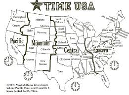 Mexico Time Zone Map by Printable Coloring Pages United States Map