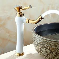 gold bathroom faucet basin faucets modern gold color deck mounted