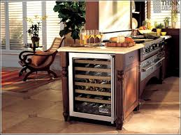2 tier kitchen island particleboard raised door pacaya kitchen island with wine fridge