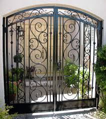 Front Door Security Gate by Decorative Wrought Iron Gate Examples Sun King Fencing