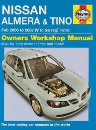 nissan almera and tino petrol service and repair manual haynes