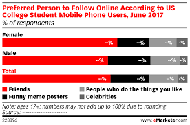 Online Friends Meme - preferred person to follow online according to us college student