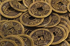 old china coins texture of close up stock photo picture and
