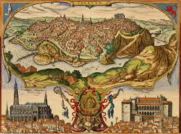 Toledo Spain Map by Map Of Toledo Braun And Hogenberg 1598