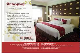 thanksgiving room package on november 2016 the sunan hotel