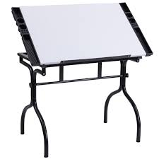 White Drafting Table Giantex Drafting Table Modern Wrinting Drawing Desk Adjustable