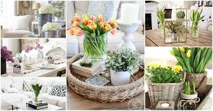 spring coffee table decor see how they did it