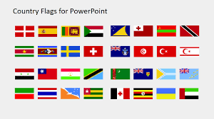 World Map Country Flags World Map Powerpoint Templates