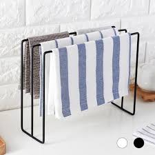 tailgate bathroom 3 layer towel storage rack kitchen rag holder hanging cleaning