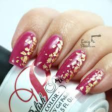 my golden leaf gel polish nails for a wedding tutorial lucy u0027s
