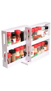 Red Spice Rack Organizer Spice Jars Glass Spice Rack Organizer Organize