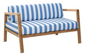 zuo modern bilander outdoor sofa set blue u0026 white stripes 70356