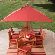 Red Rectangular Patio Umbrella 8 X 11 Ft Rectangle Patio Umbrella With Red Orange Terracotta