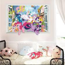 online buy wholesale beautiful wall decor from china beautiful carton beautiful horse wall decor stickers bedroom decorations decor 3d window kids children mural art decals